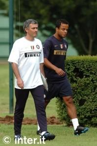 Jose Mourinho Dan Amantino Mancini Di Sesi Latihan