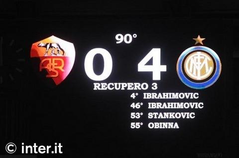 Roma 0-4 Internazionale